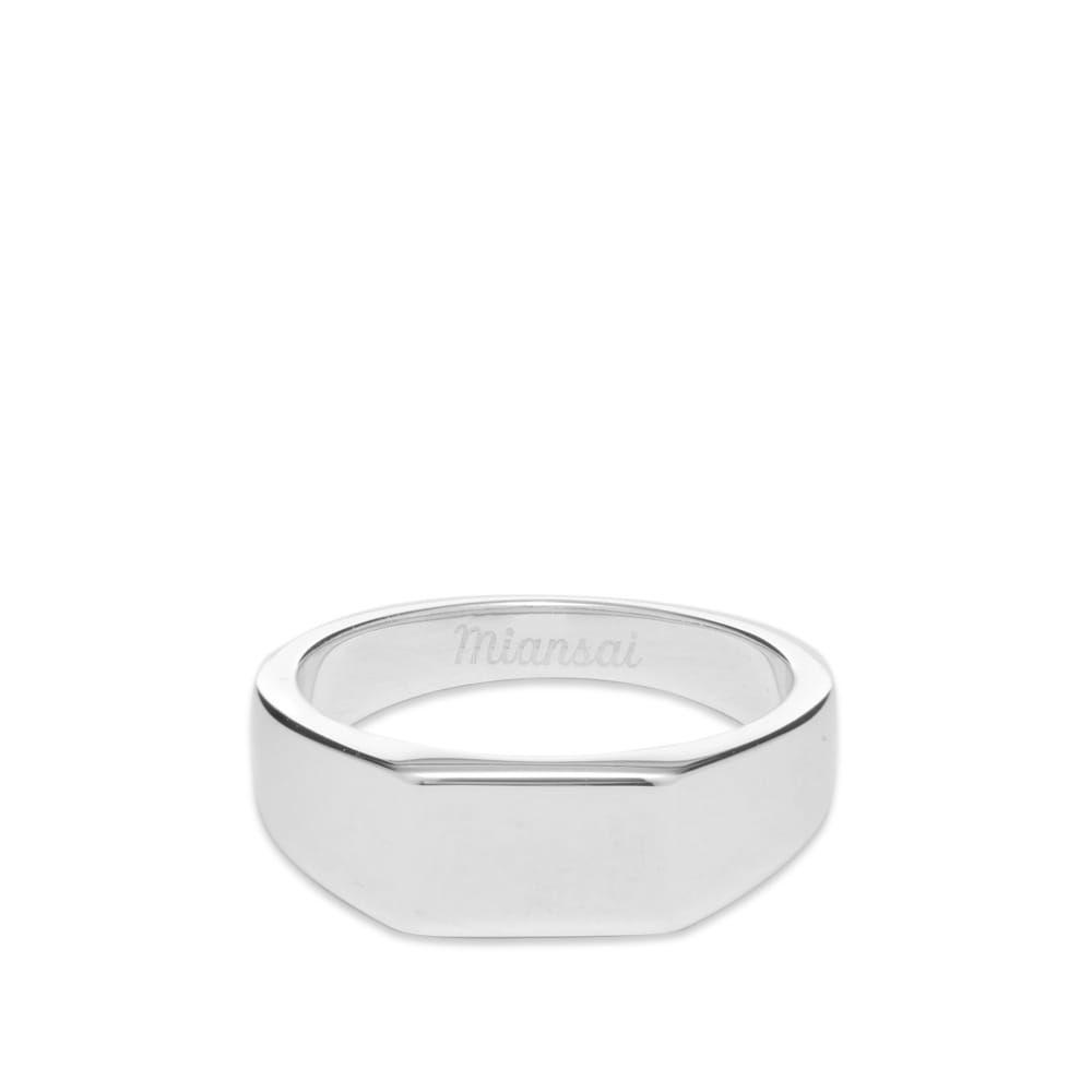 ミアンサイ Miansai メンズ 指輪・リング ジュエリー・アクセサリー【geo signet ring】Sterling Silver