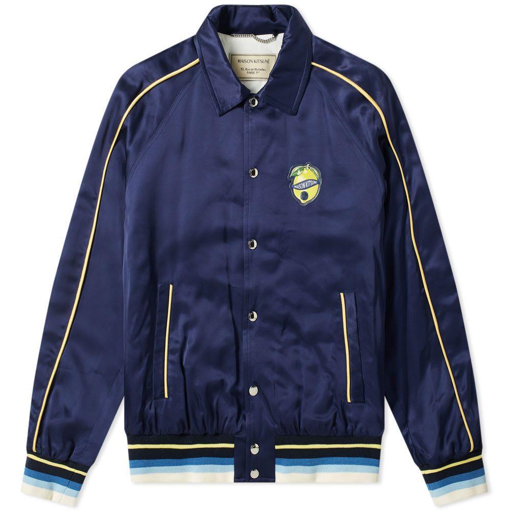 メゾン キツネ Maison Kitsune メンズ ジャケット アウター【souvenir jacket】Navy