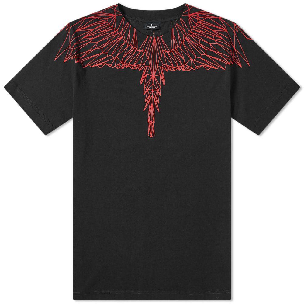 マルセロバーロン Marcelo Burlon メンズ Tシャツ トップス【flocked red wings tee】Black