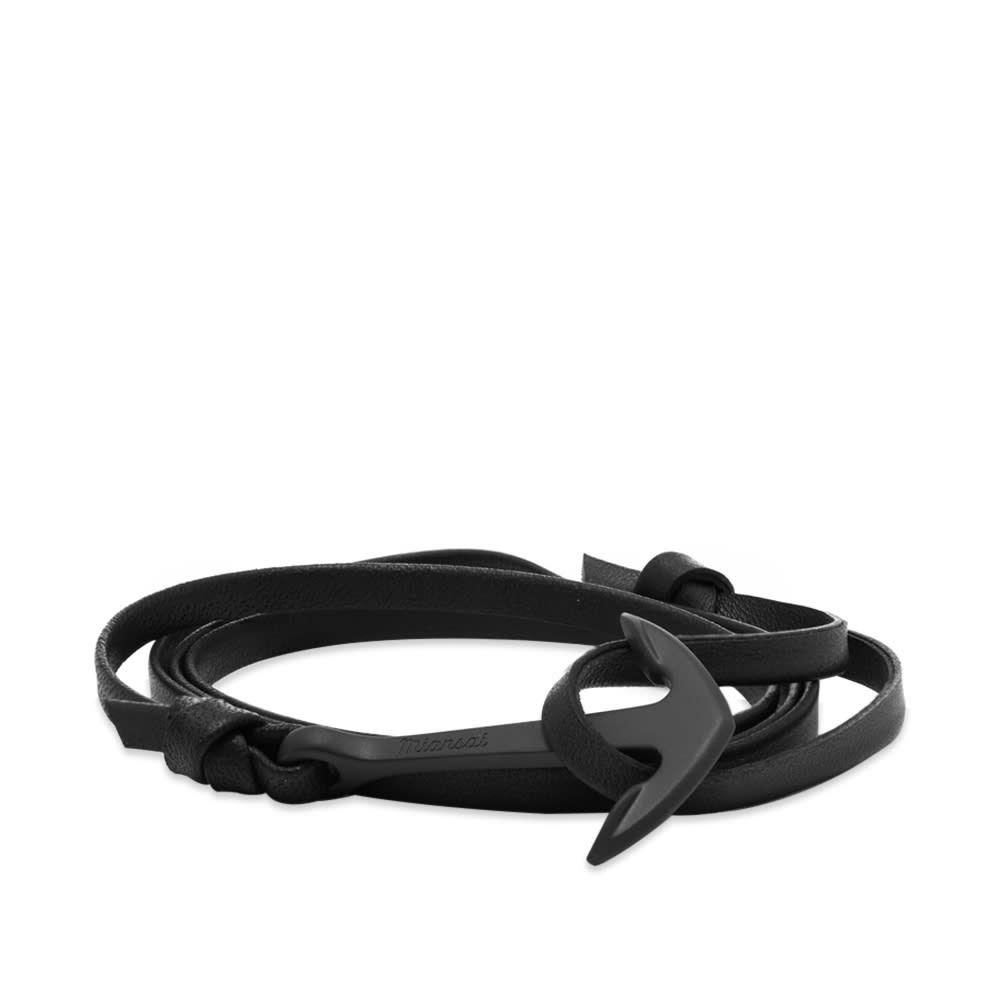 ミアンサイ Miansai メンズ ブレスレット ジュエリー・アクセサリー【black anchor leather bracelet】Black