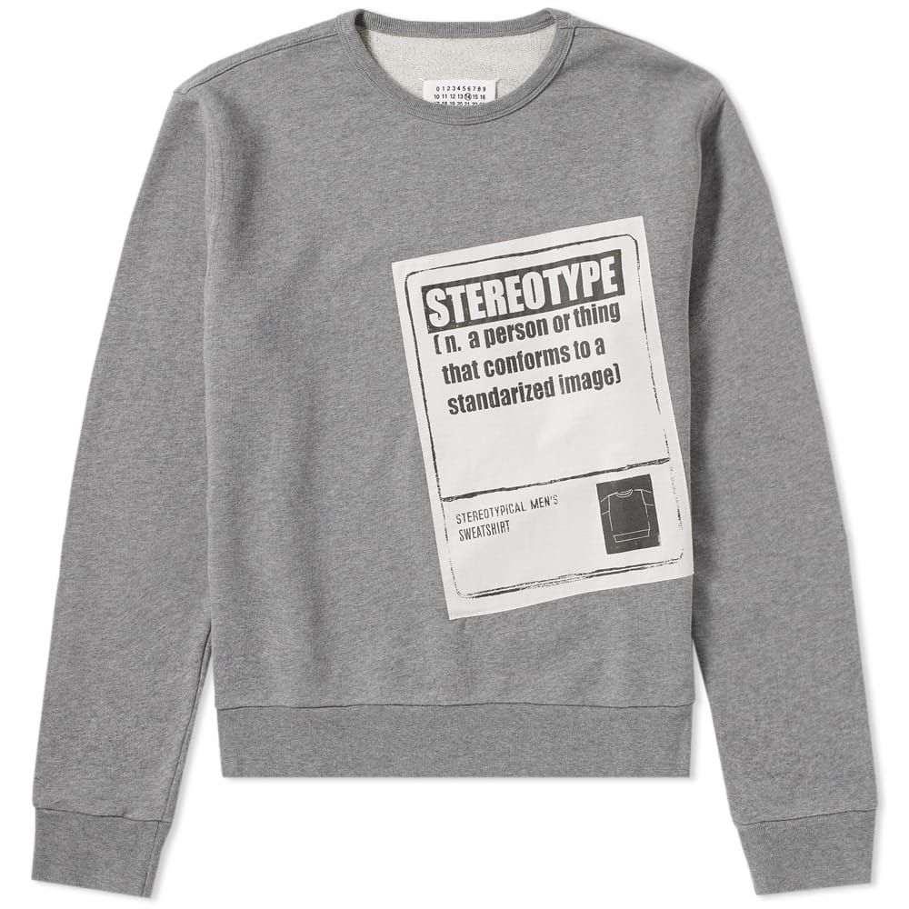 メゾン マルジェラ Maison Margiela メンズ スウェット・トレーナー トップス【14 stereotype crew sweat】Grey Melange