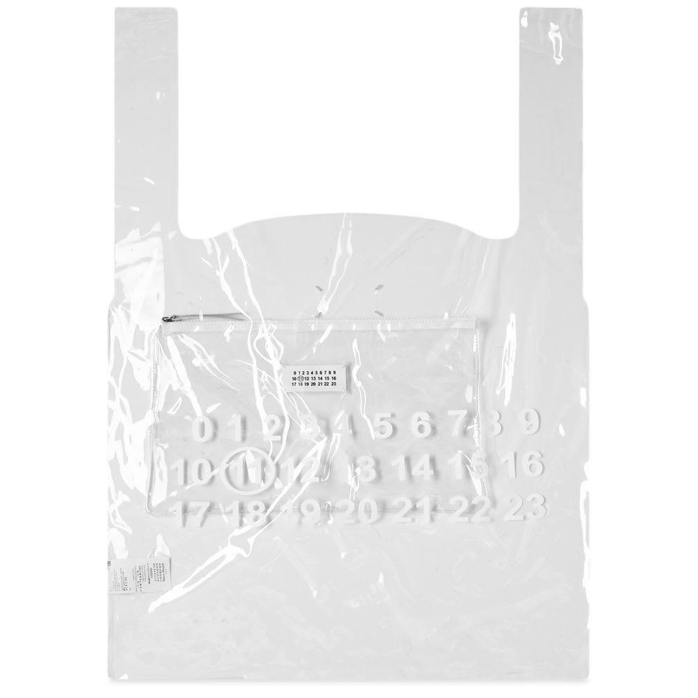 メゾン マルジェラ Maison Margiela メンズ トートバッグ バッグ【11 logo xl tote bag】Transparent/White