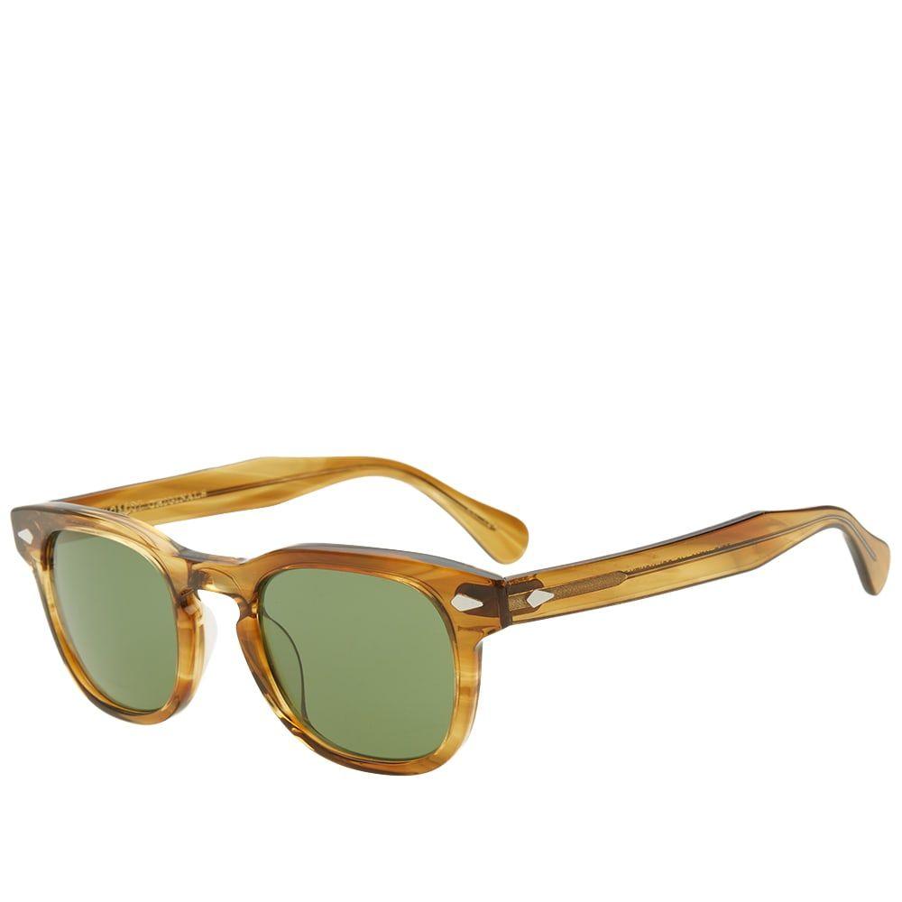 モスコット Moscot メンズ メガネ・サングラス 【gelt sunglasses】Honey Blonde/Calibar Green
