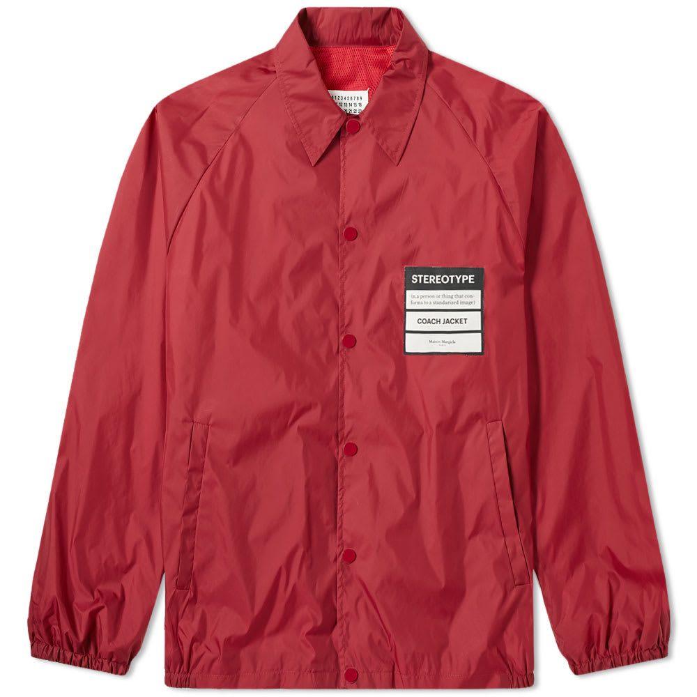 メゾン マルジェラ Maison Margiela メンズ ジャケット コーチジャケット アウター【14 stereotype coach jacket】Bordeaux