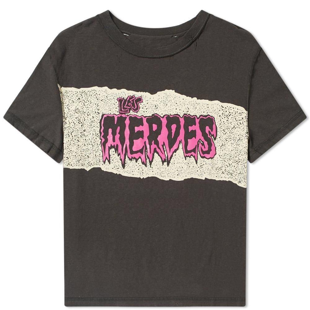 メゾン マルジェラ Maison Margiela メンズ Tシャツ トップス【10 les merdes print tee】Washed Black