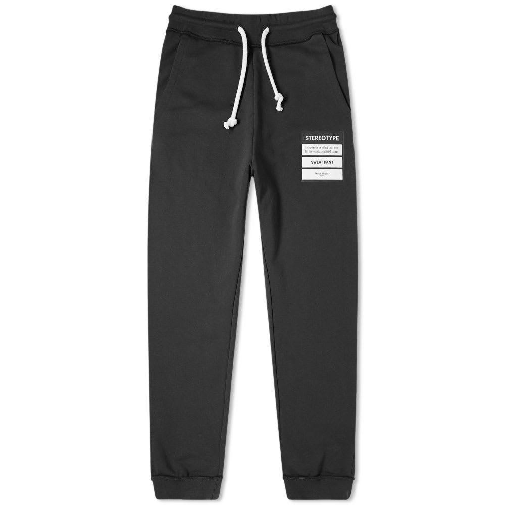 メゾン マルジェラ Maison Margiela メンズ スウェット・ジャージ ボトムス・パンツ【14 stereotype sweat pant】Black
