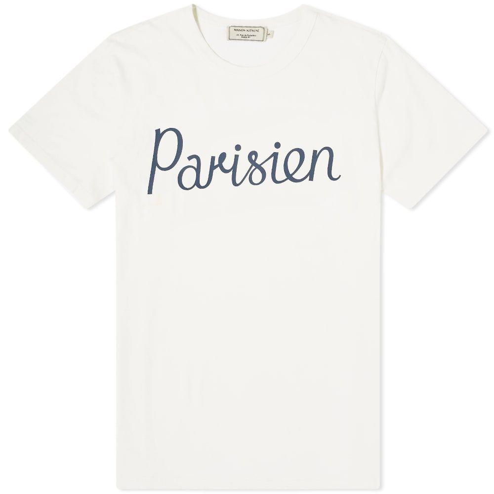 メゾン キツネ Maison Kitsune メンズ Tシャツ トップス【parisien tee】Latte