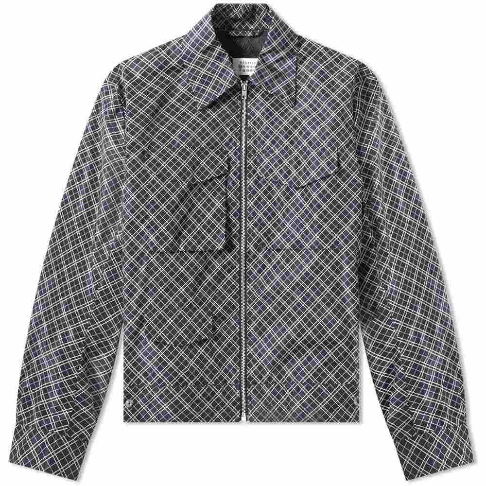 メゾン マルジェラ Maison Margiela メンズ ジャケット アウター【10 check nylon zip jacket】Dark Blue