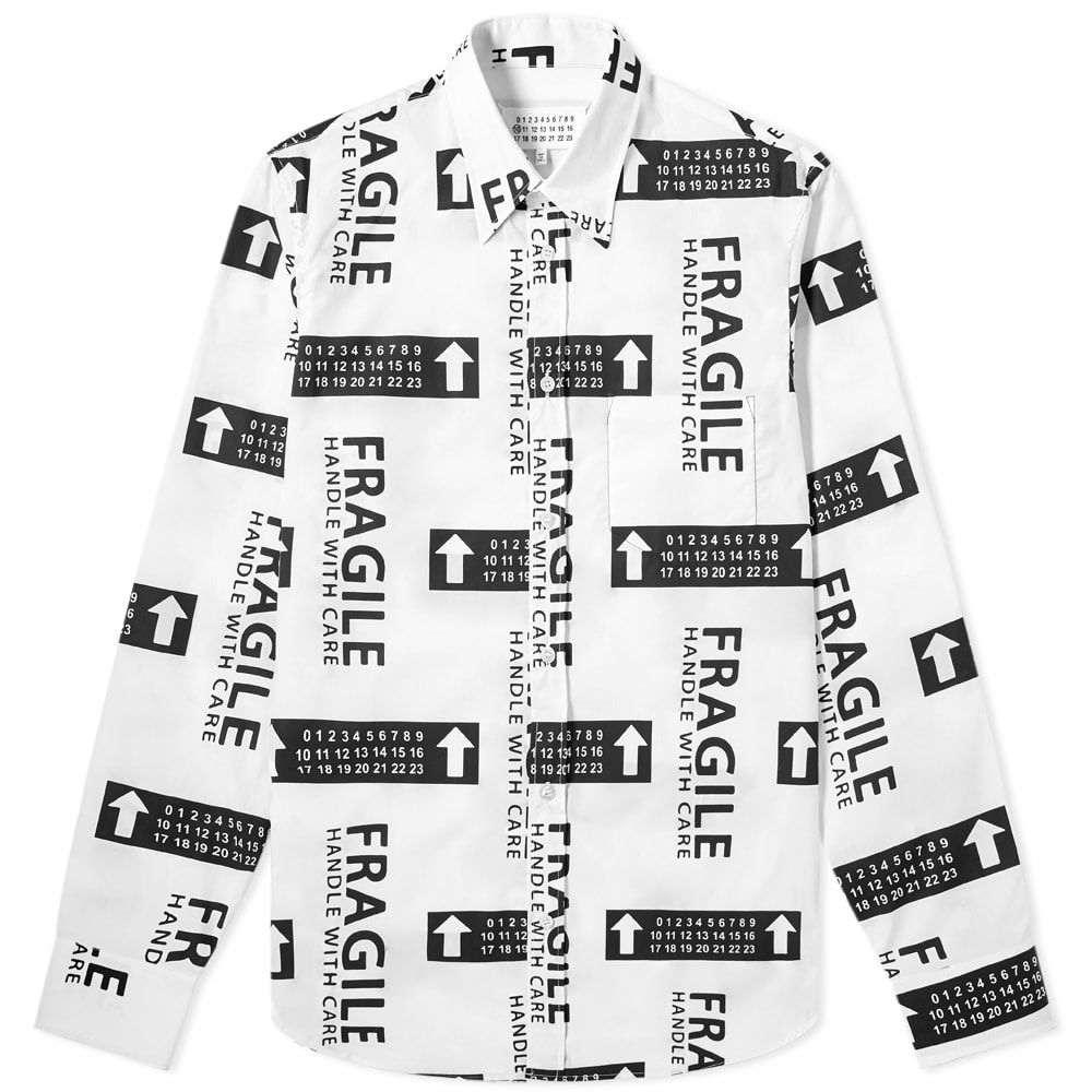 メゾン マルジェラ Maison Margiela メンズ シャツ トップス【10 fragile print shirt】Black/White