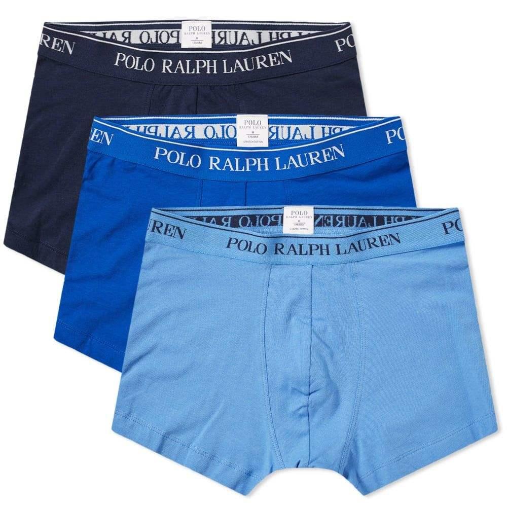 ラルフ ローレン Polo Ralph Lauren メンズ ボクサーパンツ 3点セット インナー・下着【cotton trunk - 3 pack】Navy/Sapphire Star/Blue
