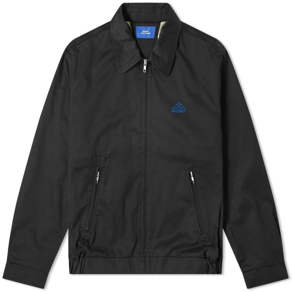 ラスベート PACCBET メンズ ジャケット アウター【zip jacket】Black