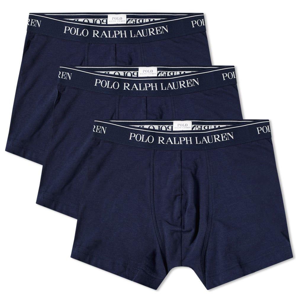 ラルフ ローレン Polo Ralph Lauren メンズ ボクサーパンツ 3点セット インナー・下着【cotton trunk - 3 pack】Cruise Navy