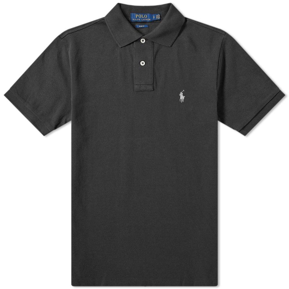 ラルフ ローレン Polo Ralph Lauren メンズ ポロシャツ トップス【slim fit polo】Polo Black/Grey