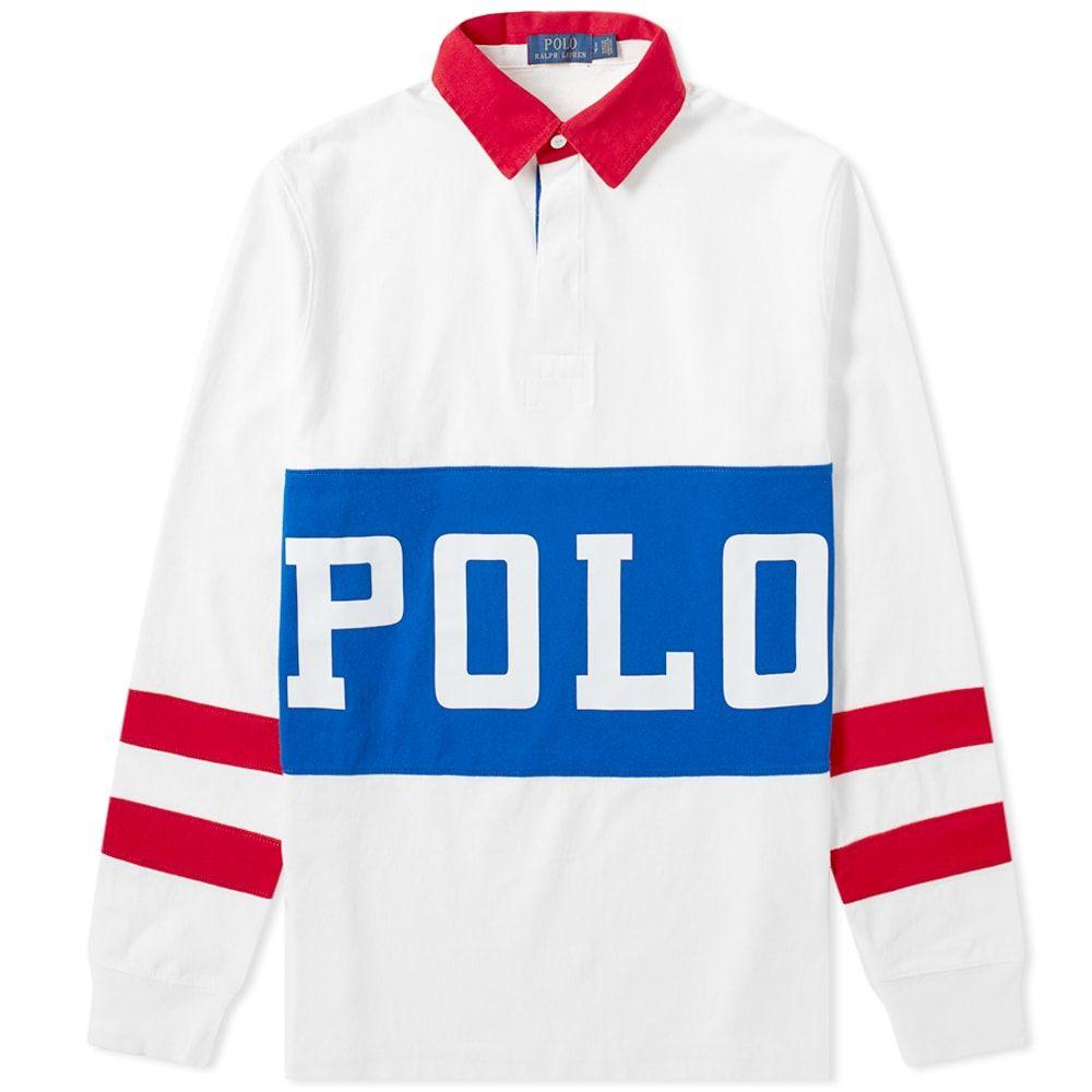 ラルフ ローレン Polo Ralph Lauren メンズ ポロシャツ トップス【polo track printed rugby shirt】White Multi
