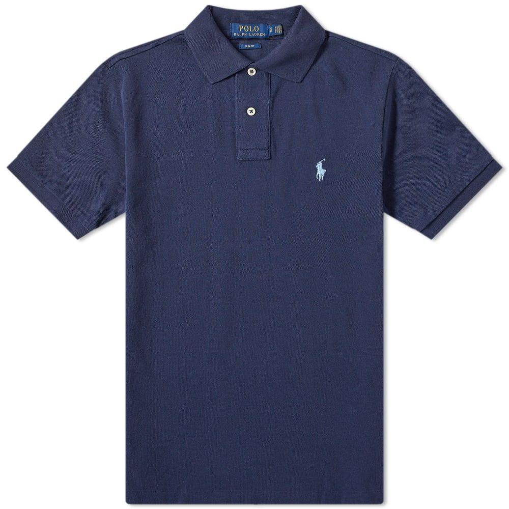 ラルフ ローレン Polo Ralph Lauren メンズ ポロシャツ トップス【slim fit polo】Newport Navy/Blue