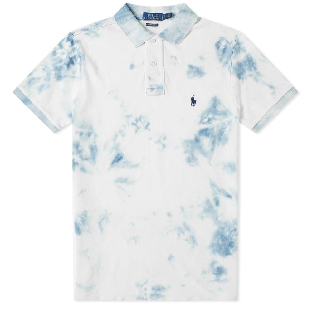 ラルフ ローレン Polo Ralph Lauren メンズ ポロシャツ トップス【indigo tie dyed polo】Washed Indigo