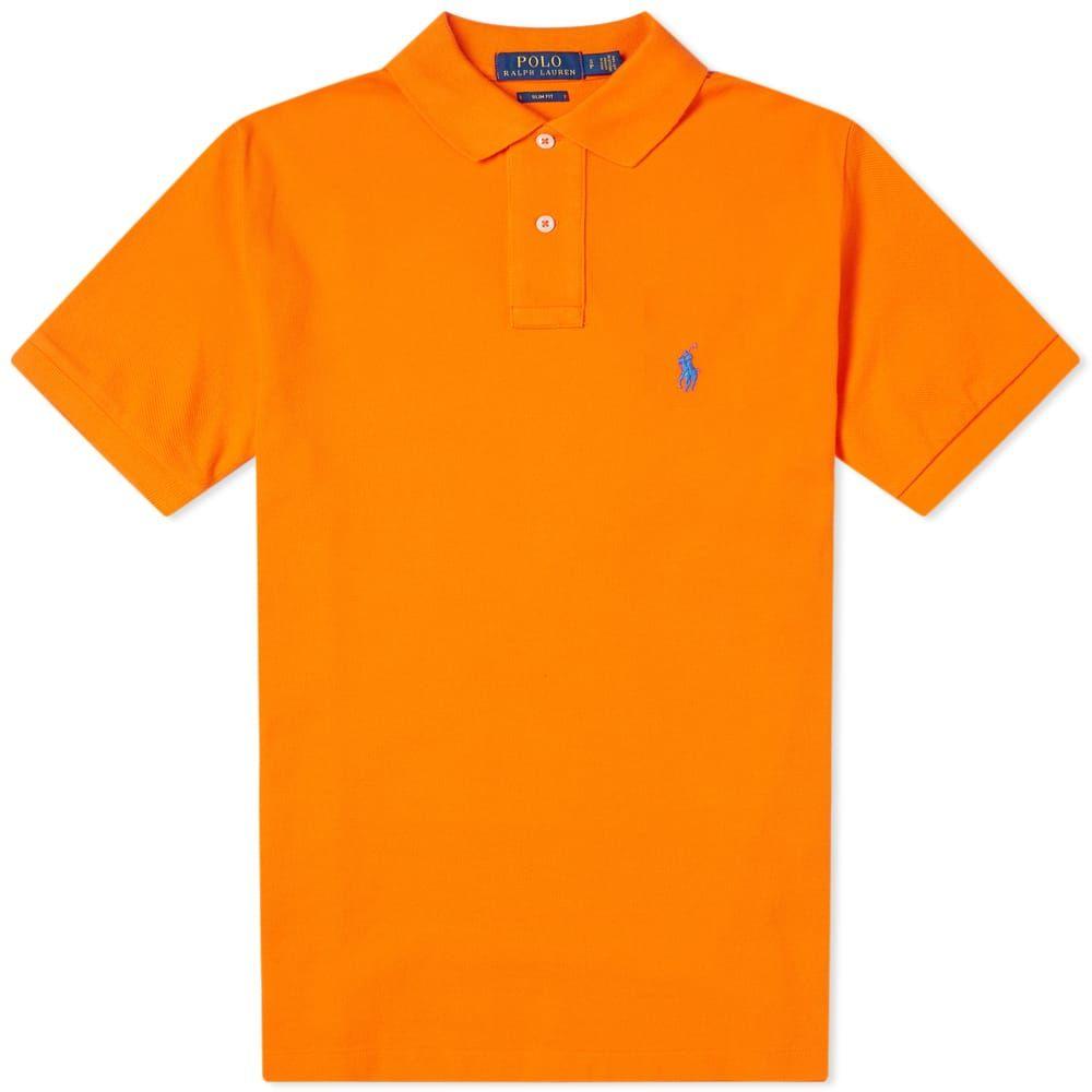 ラルフ ローレン Polo Ralph Lauren メンズ ポロシャツ トップス【slim fit polo】Sailing Orange