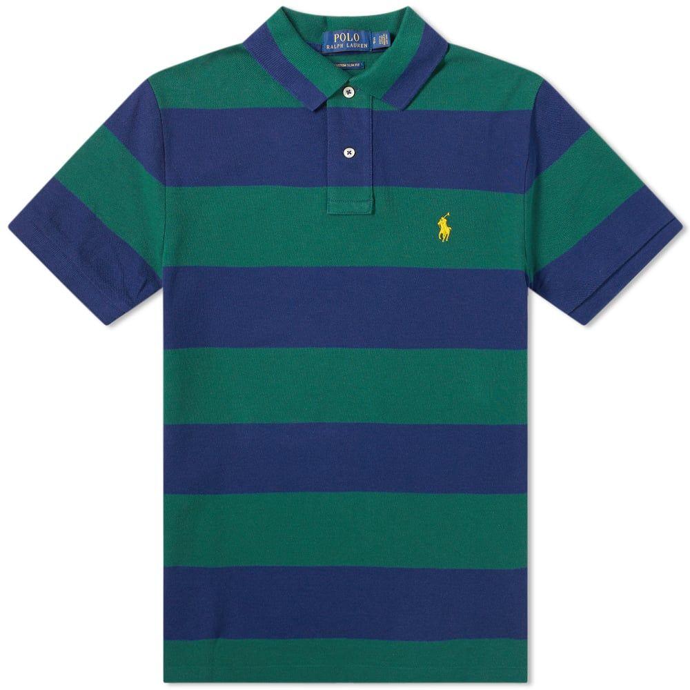 ラルフ ローレン Polo Ralph Lauren メンズ ポロシャツ トップス【striped polo】New Forest/Holiday Navy