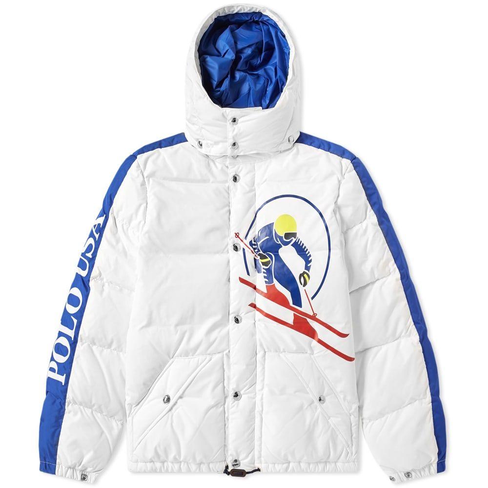 ラルフ ローレン Polo Ralph Lauren メンズ ダウン・中綿ジャケット アウター【slalom skier down jacket】White