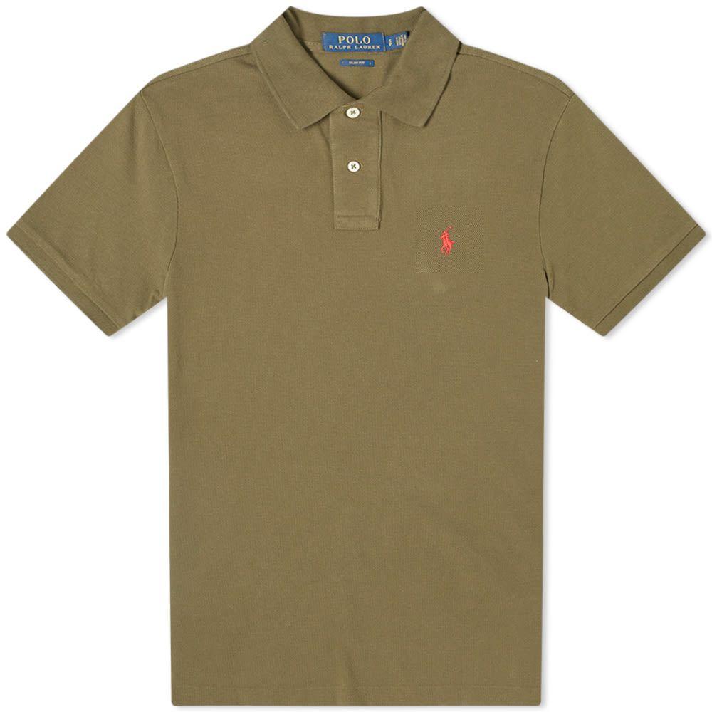 ラルフ ローレン Polo Ralph Lauren メンズ ポロシャツ トップス【slim fit polo】Defender Green