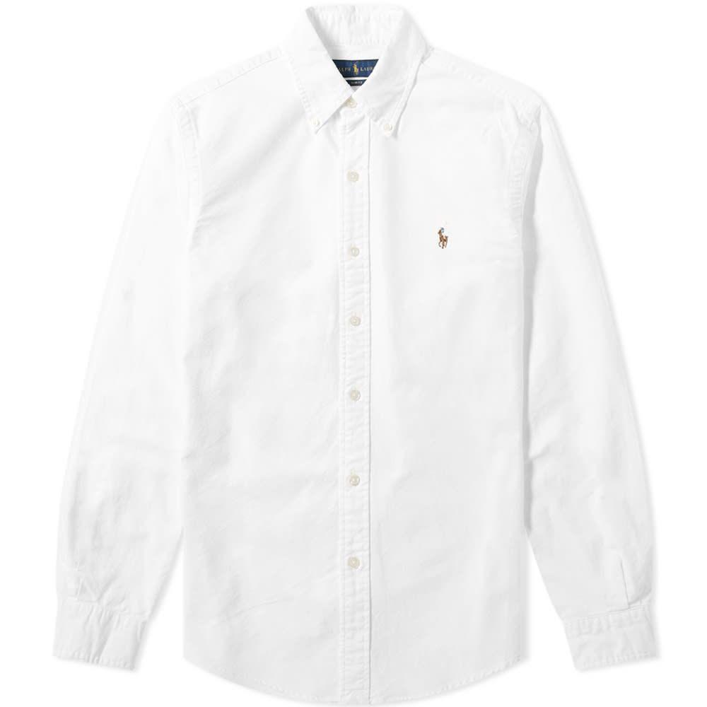 ラルフ ローレン Polo Ralph Lauren メンズ シャツ トップス【slim fit button down oxford shirt】White