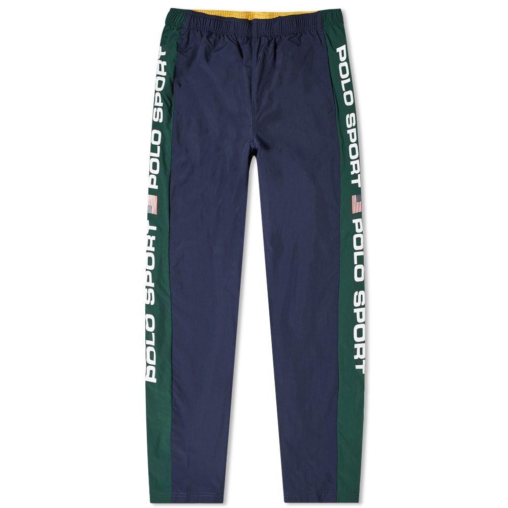ラルフ ローレン Polo Ralph Lauren メンズ スウェット・ジャージ ボトムス・パンツ【polo sport shell track pant】Cruise Navy/College Green