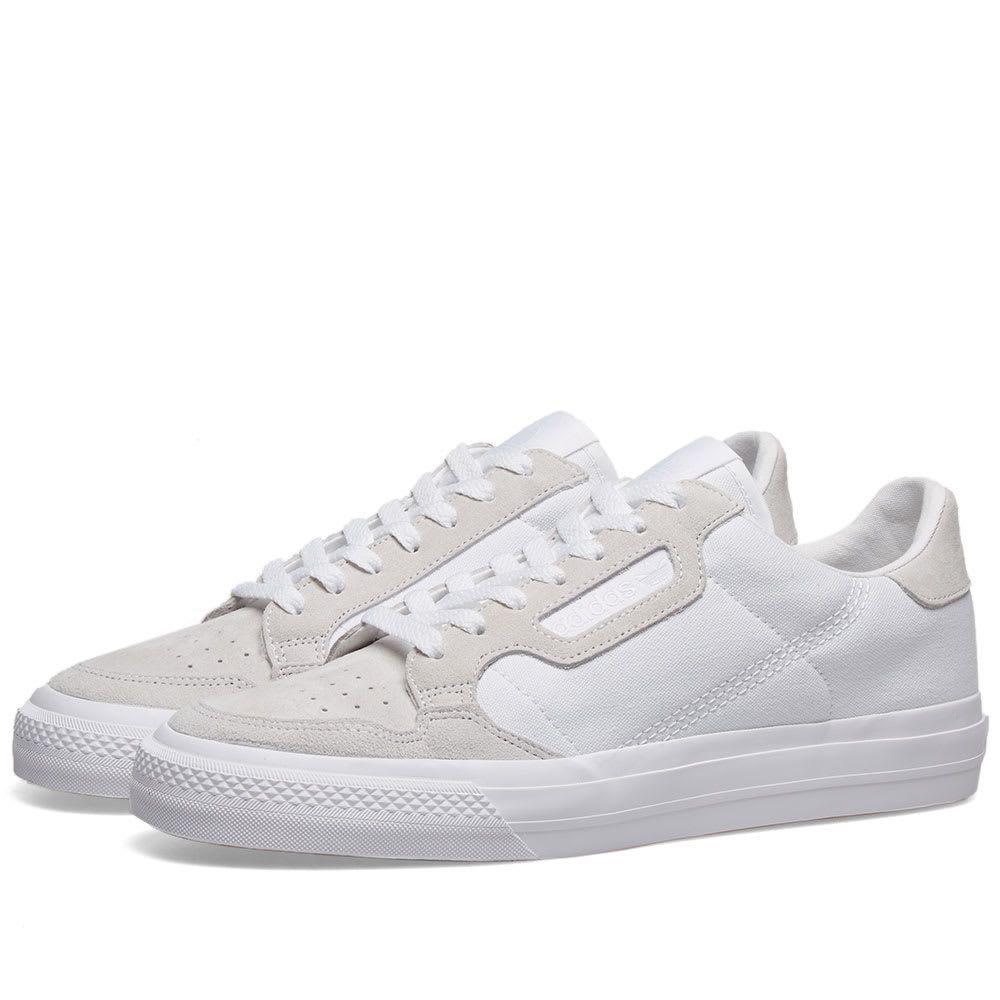 アディダス Adidas メンズ スニーカー シューズ・靴【continental vulc】White