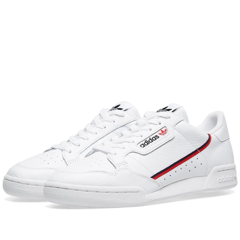 アディダス Adidas メンズ スニーカー シューズ・靴【continental 80】White/Scarlet/Collegiate