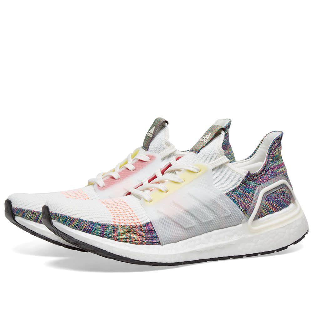アディダス Adidas メンズ スニーカー シューズ・靴【ultra boost xix 'pride'】White/Scarlet/Yellow