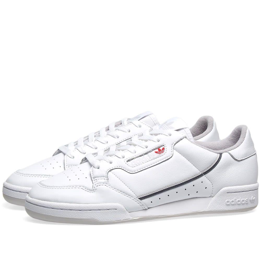 アディダス Adidas メンズ スニーカー シューズ・靴【continental 80】White/Grey