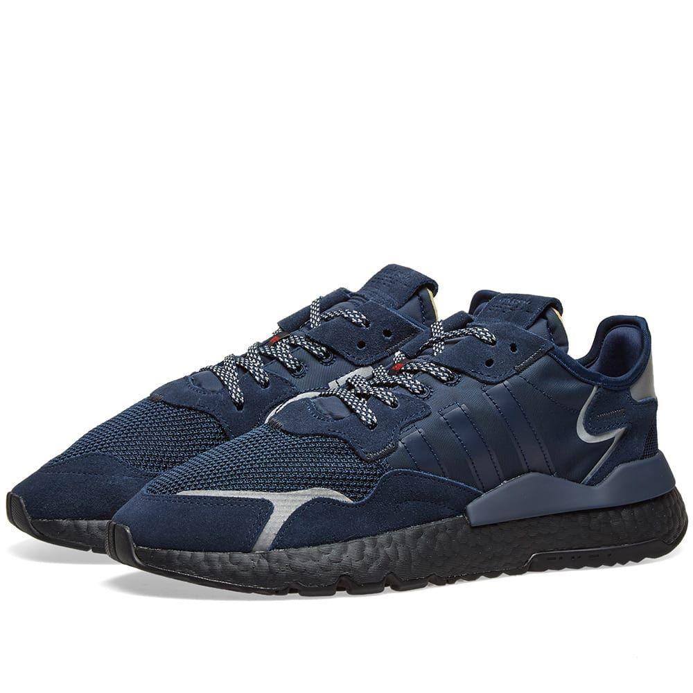 アディダス Adidas メンズ スニーカー シューズ・靴【nite jogger】Collegiate Navy/Black