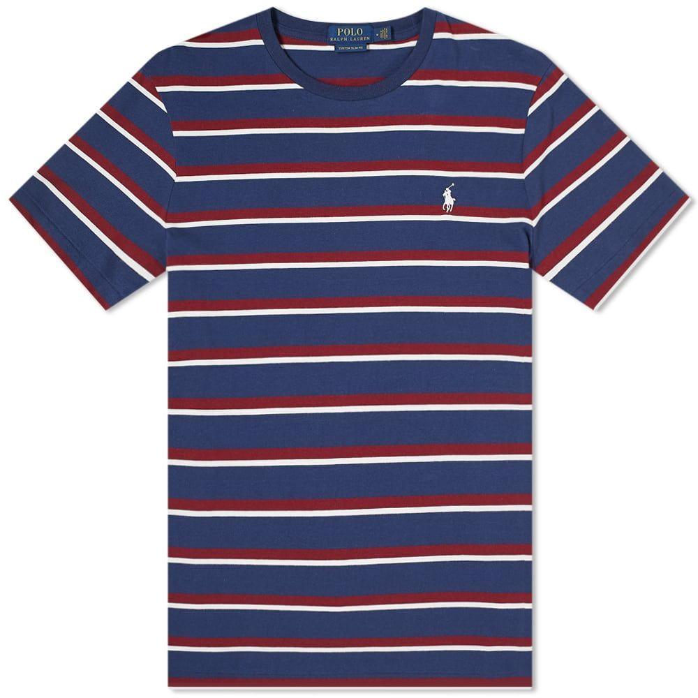 ラルフ ローレン Polo Ralph Lauren メンズ Tシャツ トップス【stripe tee】Newport Navy