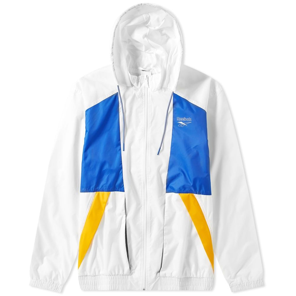 リーボック Reebok メンズ ジャケット ウィンドブレーカー アウター【retro windbreaker】White/Blue