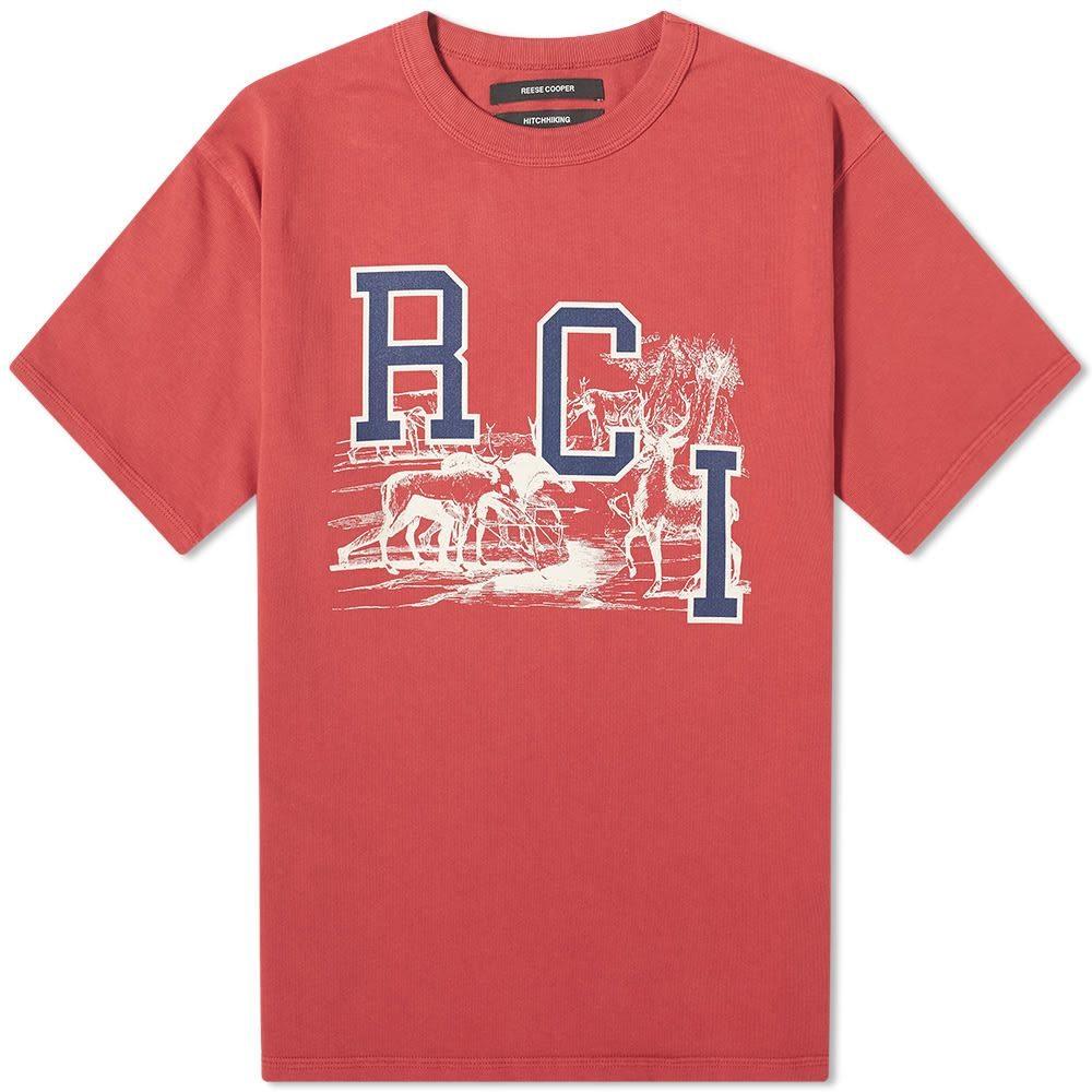 リースクーパー Reese Cooper メンズ Tシャツ トップス【rci deer tee】Red