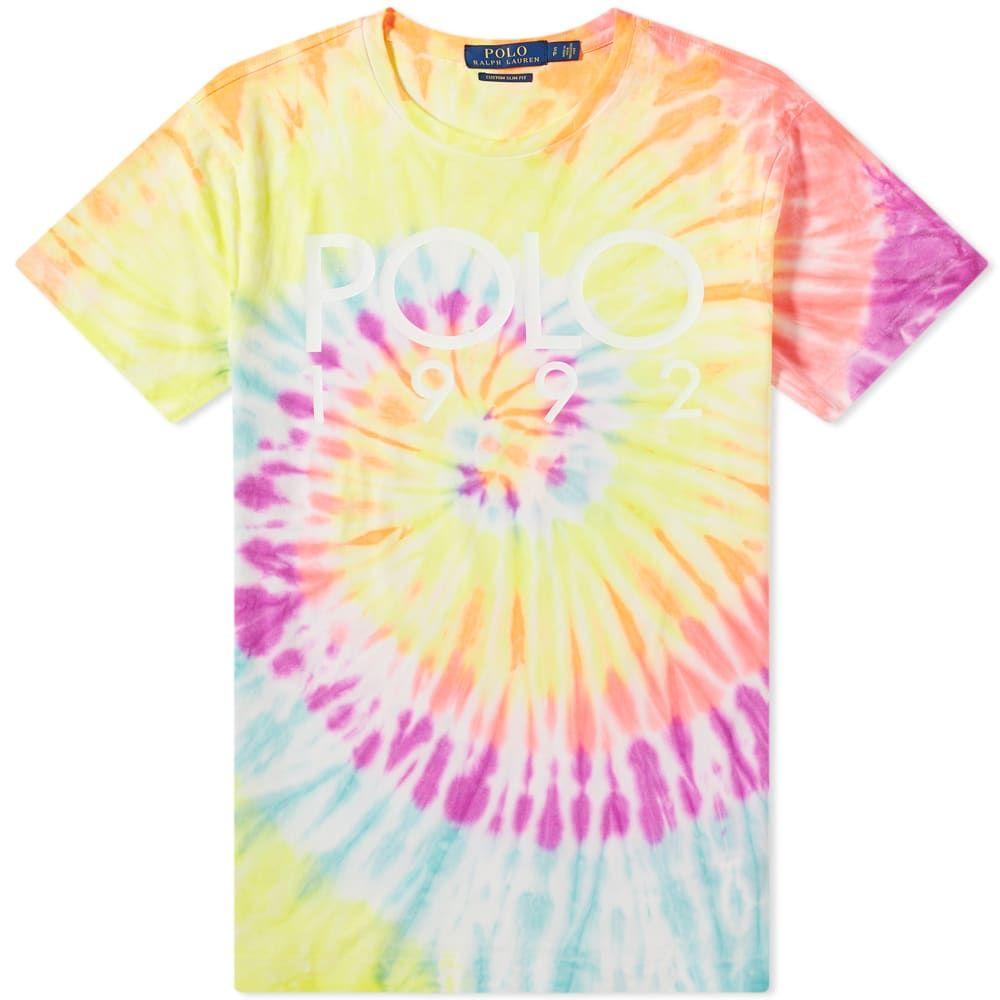 ラルフ ローレン Polo Ralph Lauren メンズ Tシャツ トップス【tie dye 1992 tee】Pink/Yellow