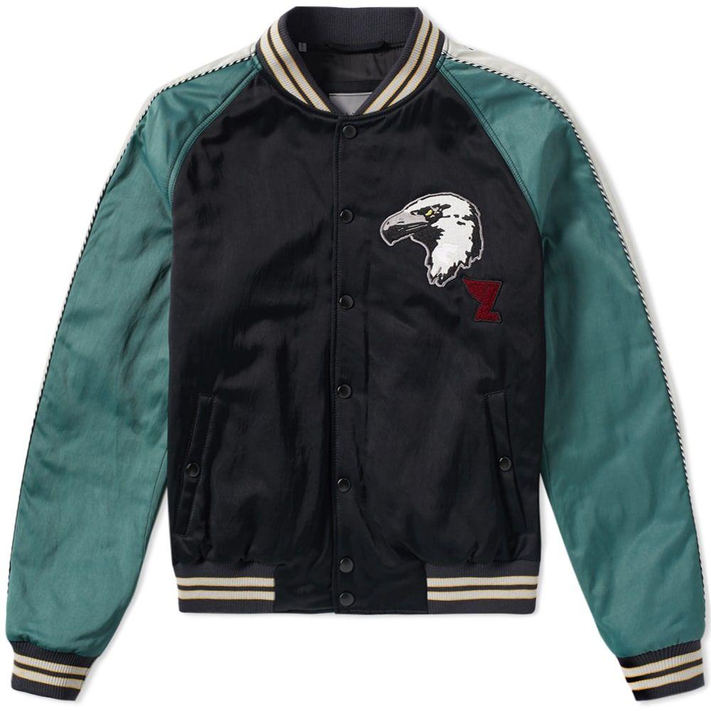 ランバン Lanvin メンズ ブルゾン アウター【eagle varsity jacket】Black