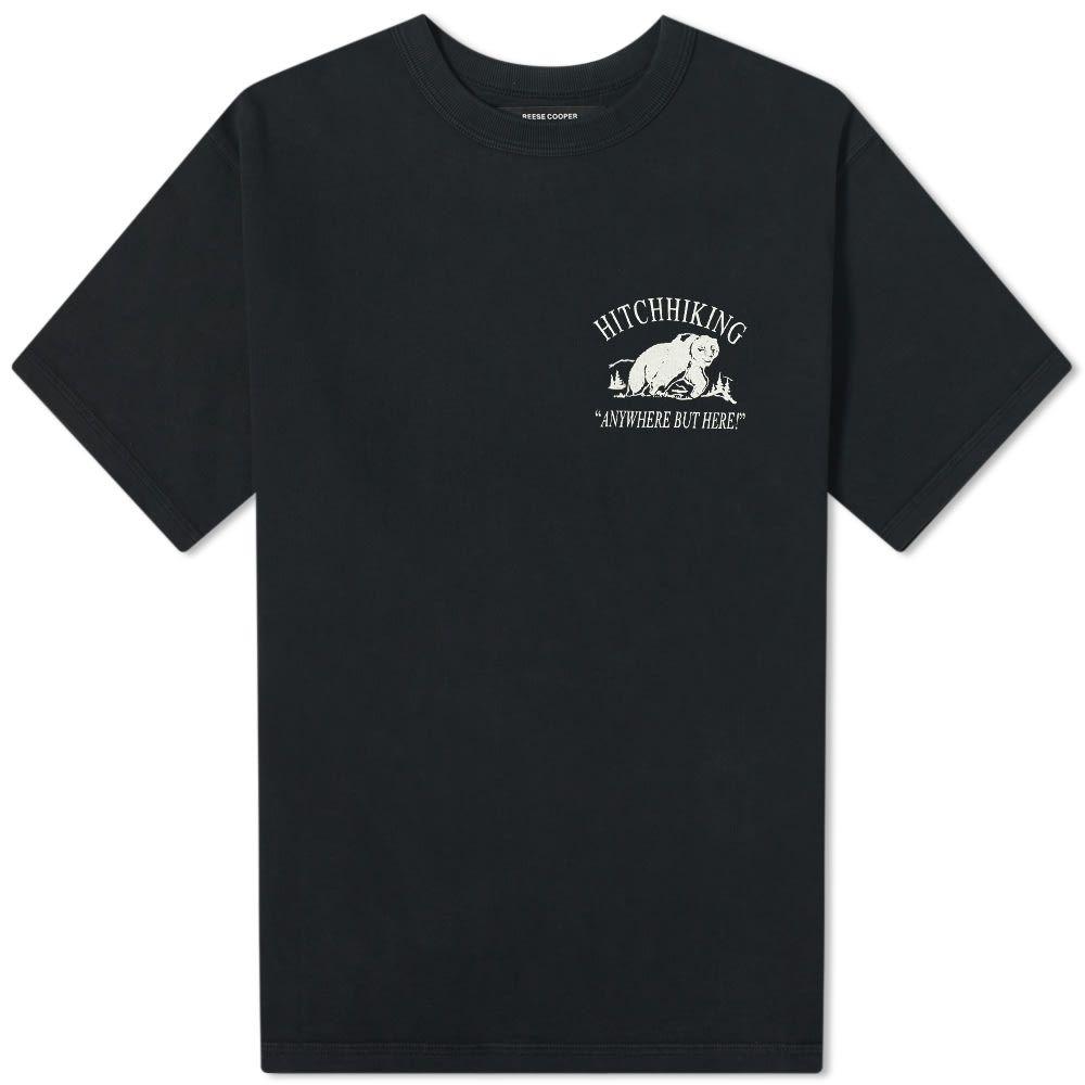リースクーパー Reese Cooper メンズ Tシャツ トップス【hitchhiking tee】Vintage Black