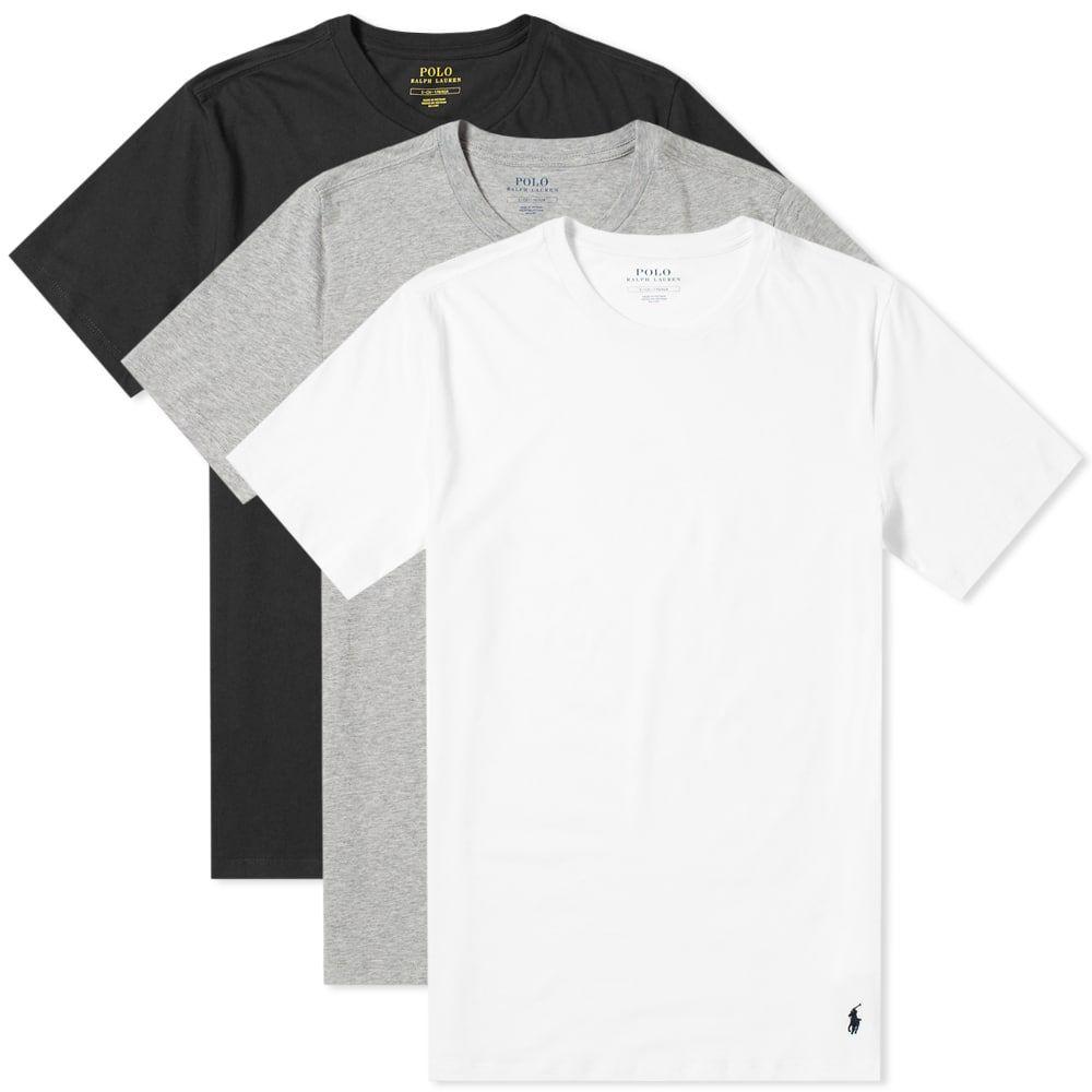 ラルフ ローレン Polo Ralph Lauren メンズ Tシャツ 3点セット ベースレイヤー トップス【crew base layer tee - 3 pack】White/Black/Grey