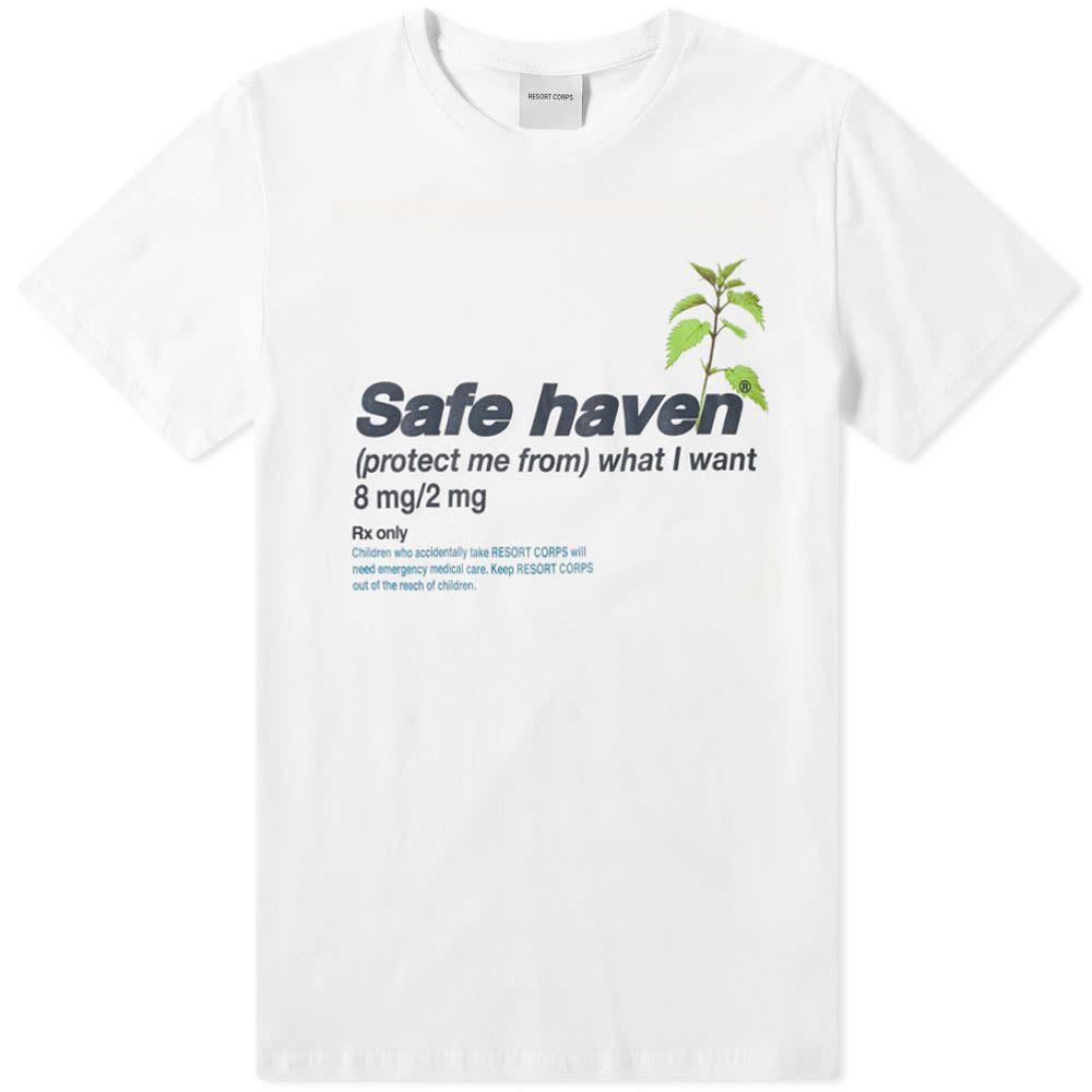 リゾートコープ Resort Corps メンズ Tシャツ トップス【safe haven tee】White