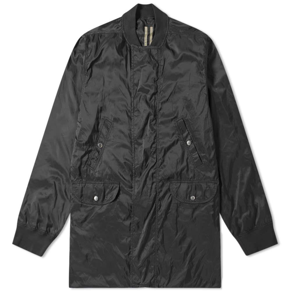 リック オウエンス Rick Owens メンズ ブルゾン ミリタリージャケット アウター【drkshdw mixed fabric long bomber jacket】Black
