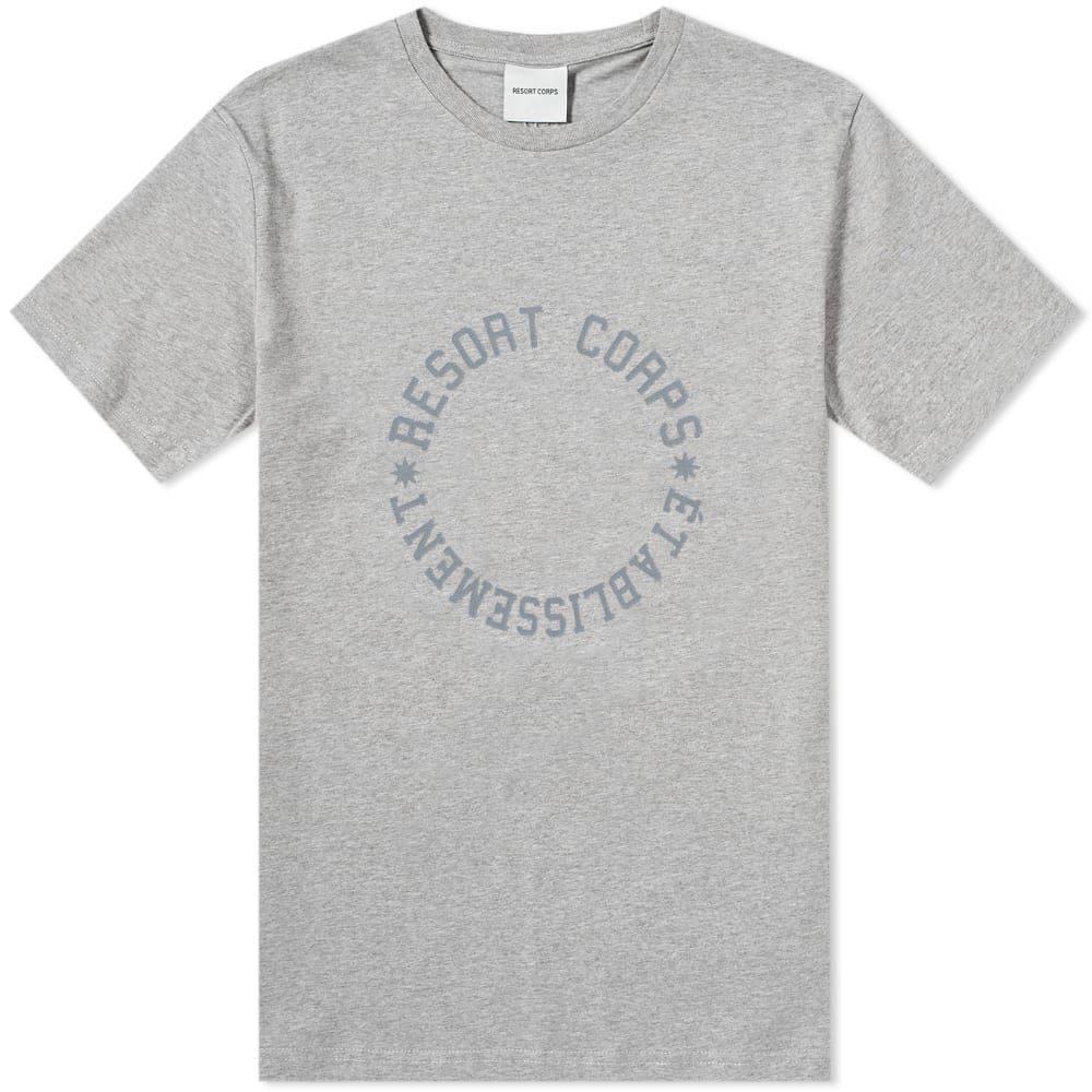 リゾートコープ Resort Corps メンズ Tシャツ トップス【varsity etablissement tee】Heather Grey