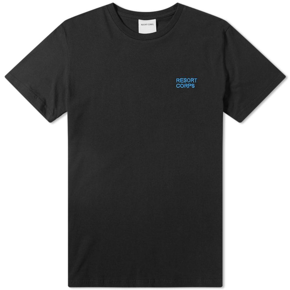 リゾートコープ Resort Corps メンズ Tシャツ ロゴTシャツ トップス【logo tee】Black