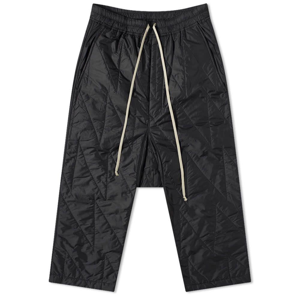 リック オウエンス Rick Owens メンズ クロップド ボトムス・パンツ【drkshdw cropped drawstring quilted pant】Black