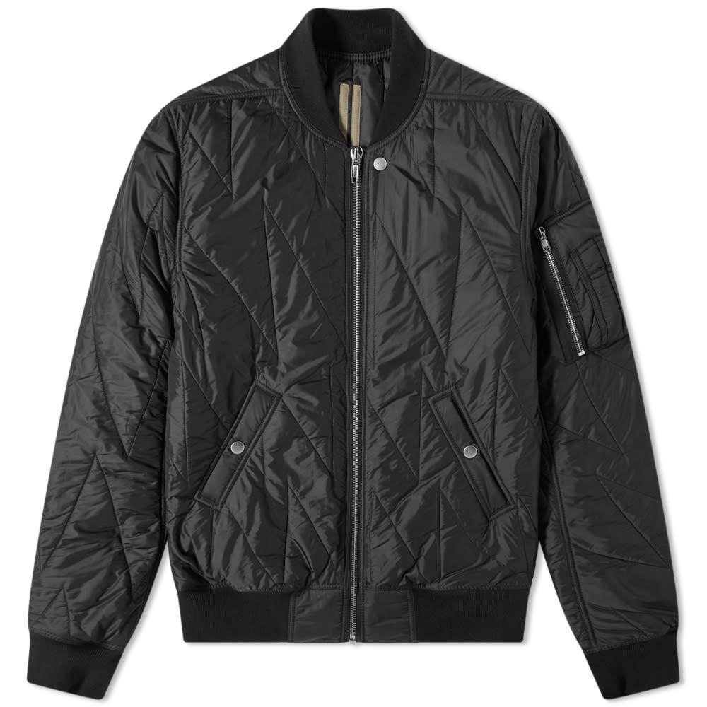 リック オウエンス Rick Owens メンズ ブルゾン フライトジャケット アウター【drkshdw nylon quilted flight jacket】Black