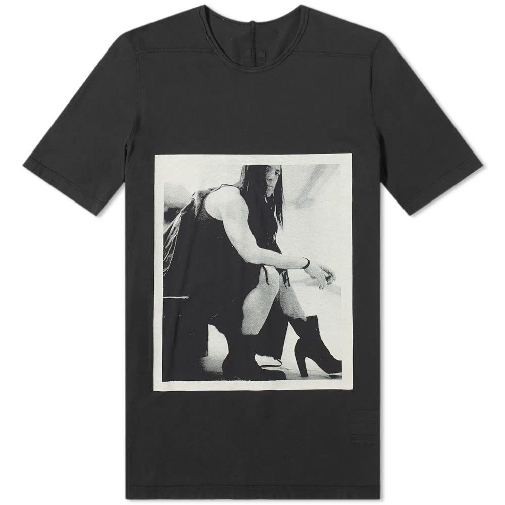 リック オウエンス Rick Owens メンズ Tシャツ トップス【drkshdw rick photo print level tee】Black