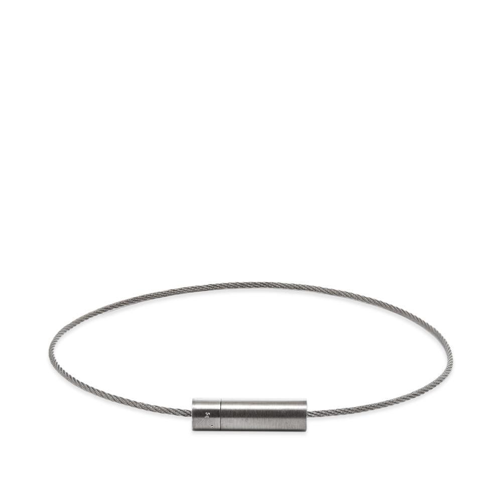 ルグラム Le Gramme メンズ ブレスレット ジュエリー・アクセサリー【brushed le cable bracelet】Black Silver 5g