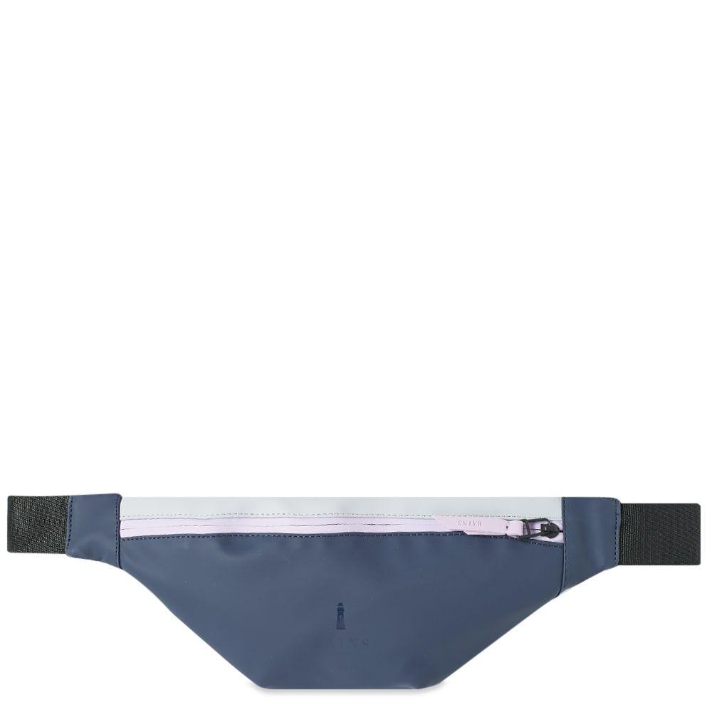 レインズ Rains メンズ ボディバッグ・ウエストポーチ バッグ【colour block mini bum bag】Blue/Ice Grey