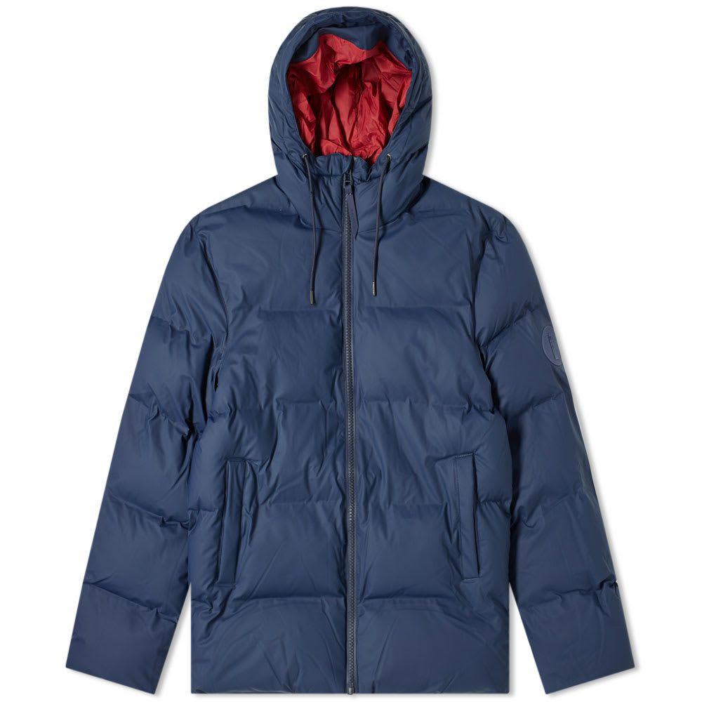 レインズ Rains メンズ ダウン・中綿ジャケット アウター【puffer jacket】Blue