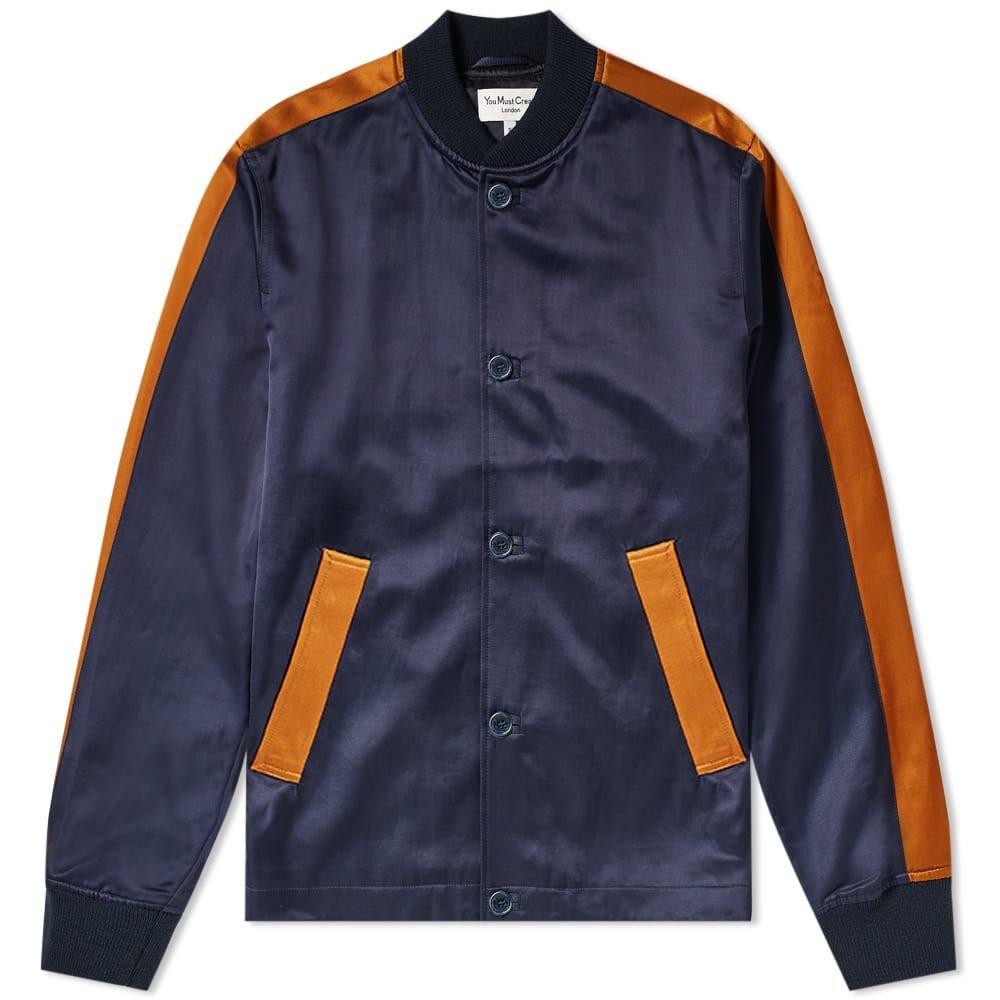 ワイエムシー YMC メンズ ブルゾン ミリタリージャケット アウター【turf bomber jacket】Navy/Rust