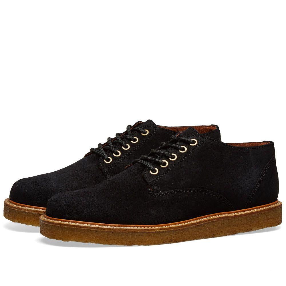 ワイルドバンチ Wild Bunch メンズ シューズ・靴【Classic 5 Eyelet Shoe】Black Suede